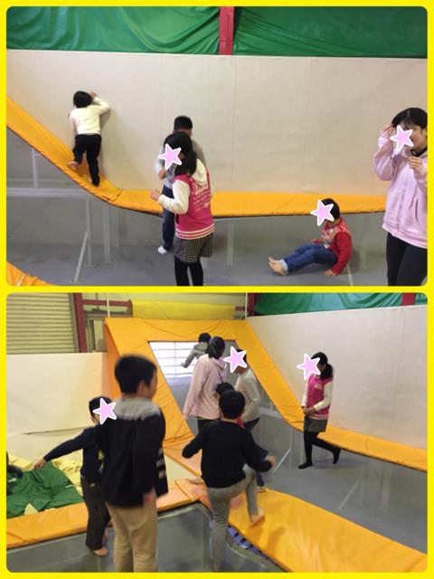近くのトランポリン施設で遊びながら感覚を養う!
