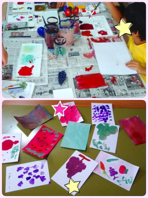 絵や粘土、裁縫など色々な作品が生まれます!
